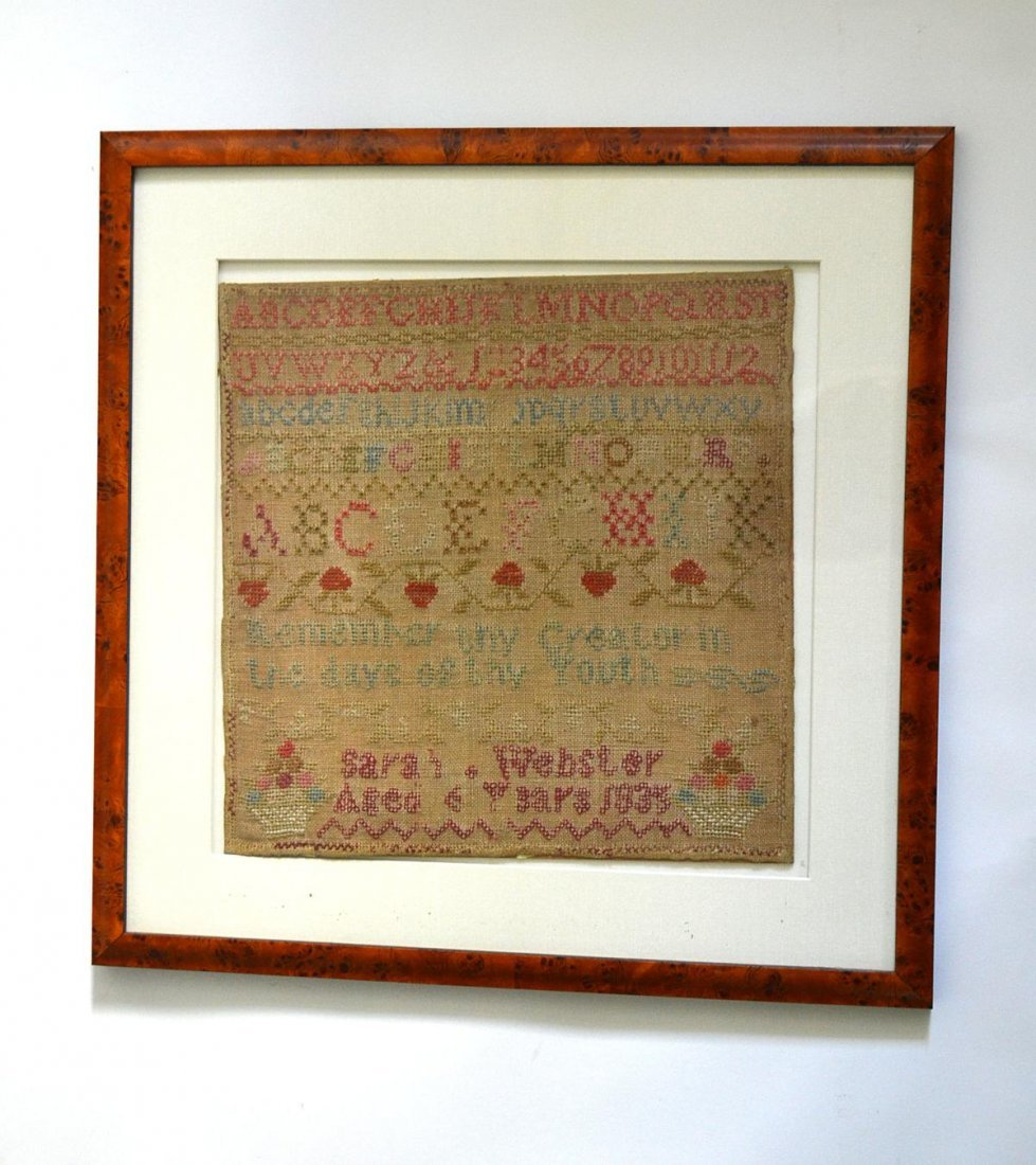 402: Sampler, Sarah Webster Aged 6 years 1835