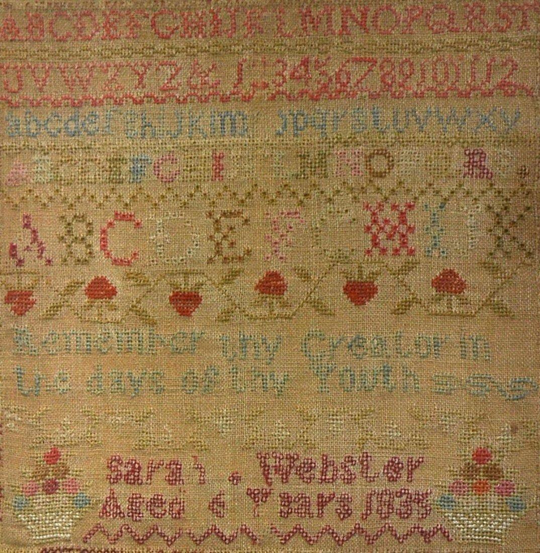 402: Sampler, Sarah Webster Aged 6 years 1835 - 2