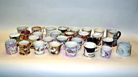4: Assorted Porcelain Moustache and Tea Cups [25 pcs.]