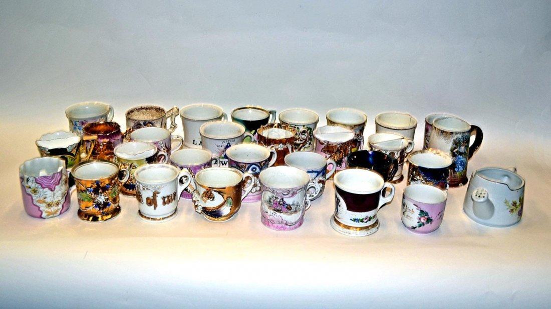 4: Assorted Porcelain Moustache and Tea Cups [25 pcs.]