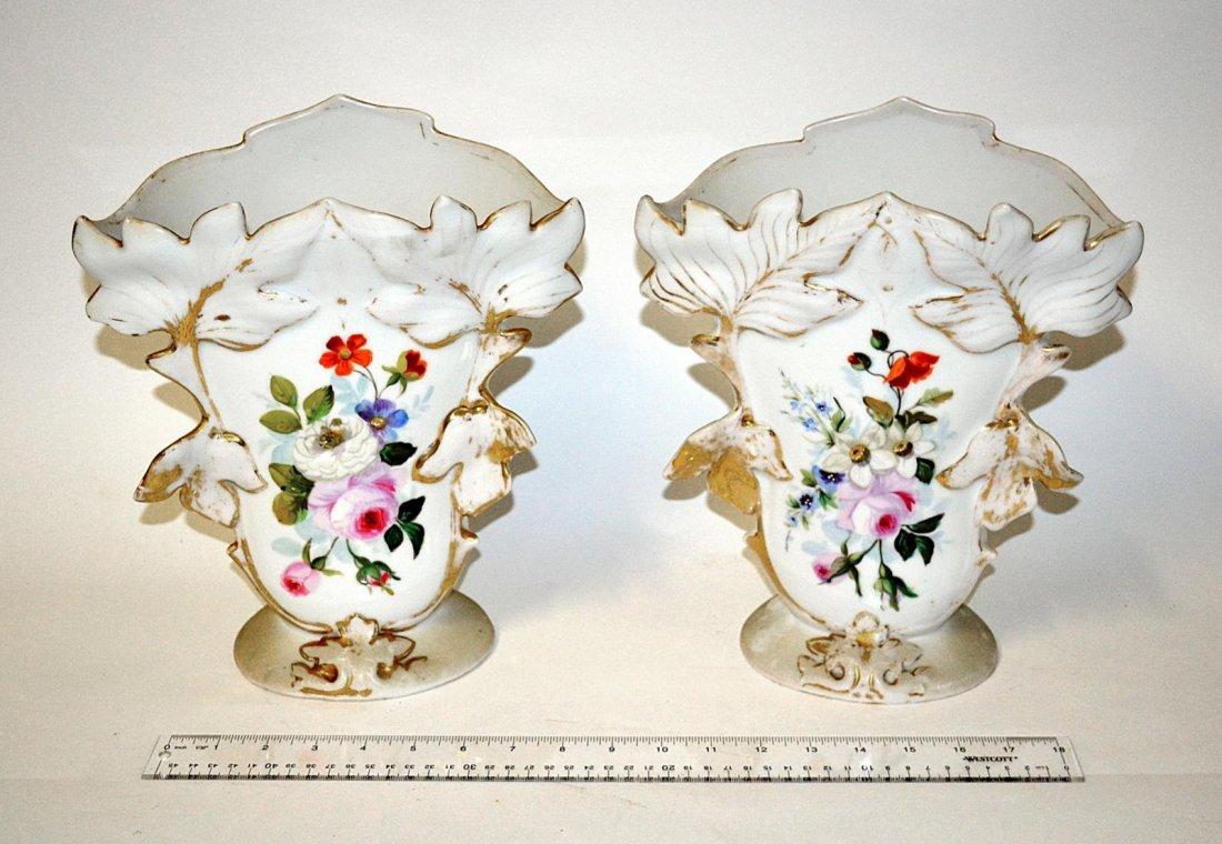 22: Pair of Porcelain Flare Vases