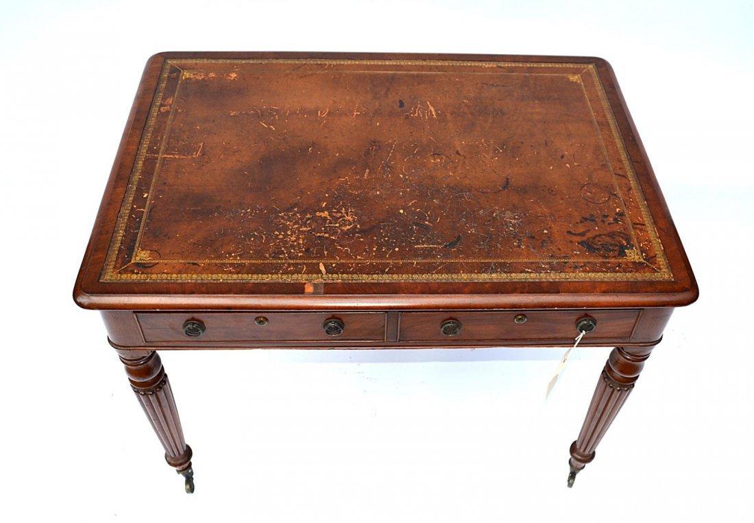 148: Late Regency Mahogany Writing Desk - 2