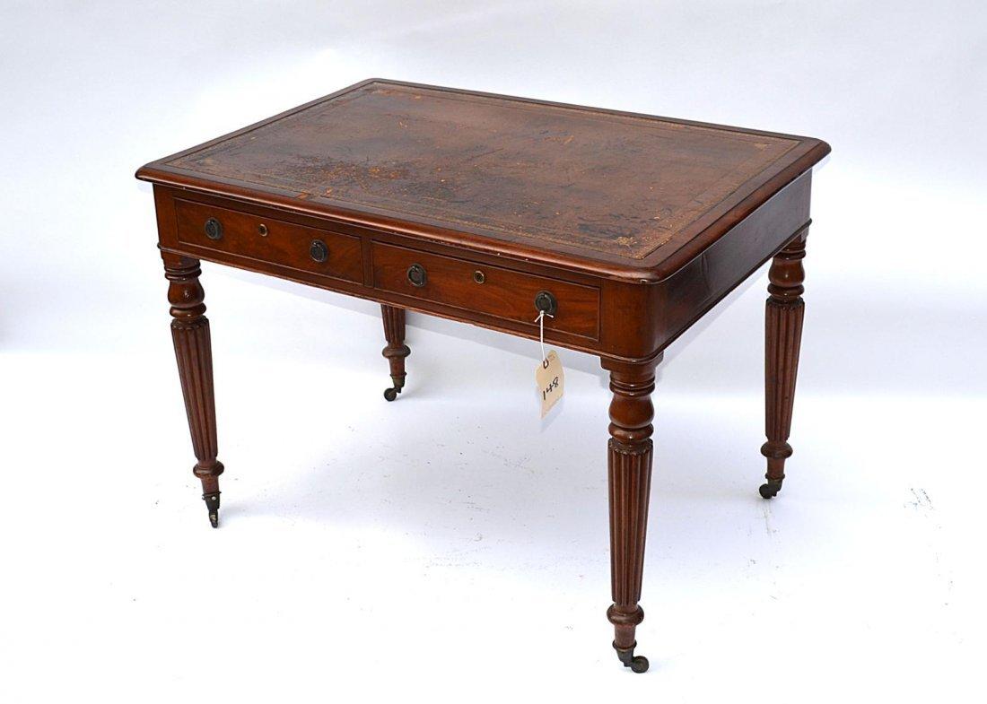 148: Late Regency Mahogany Writing Desk - 3