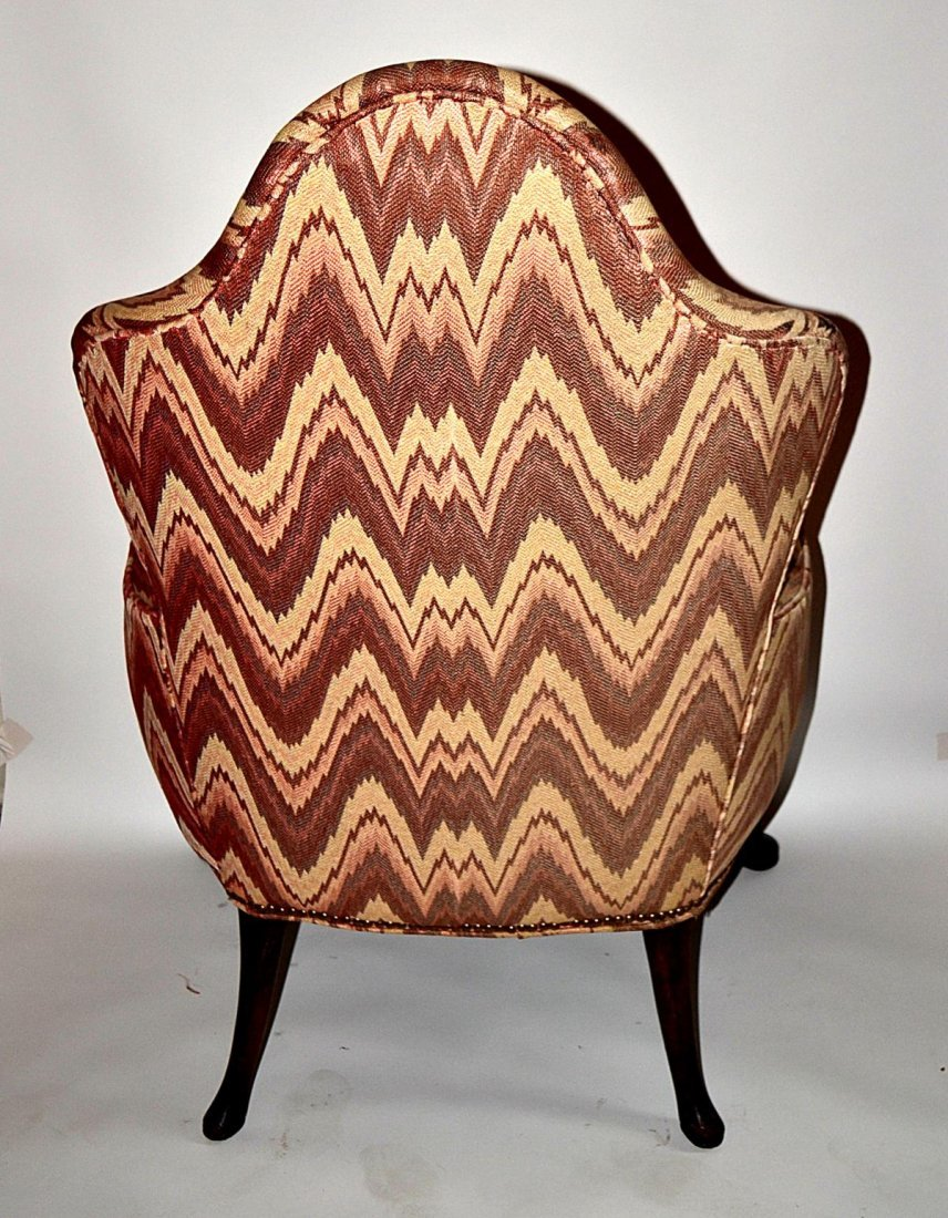217: Queen Anne Style Walnut Wing Chair - 4
