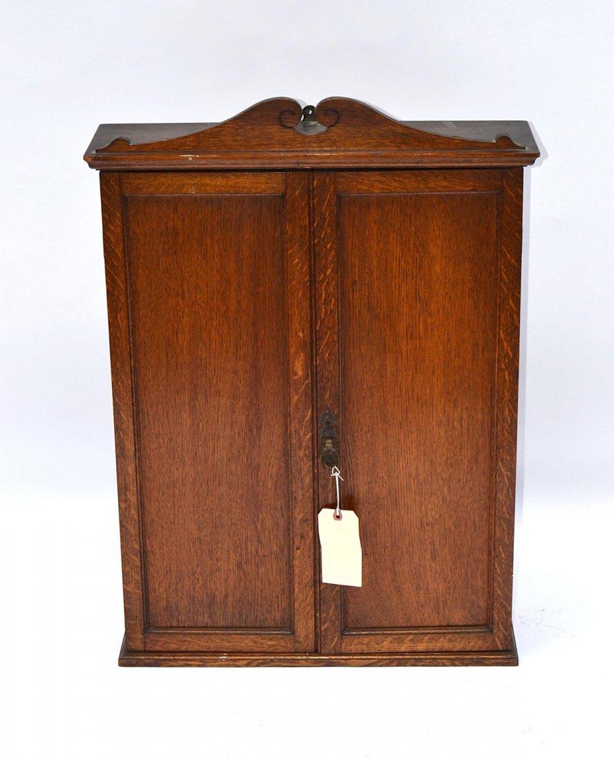 69: Oak Hanging Cabinet
