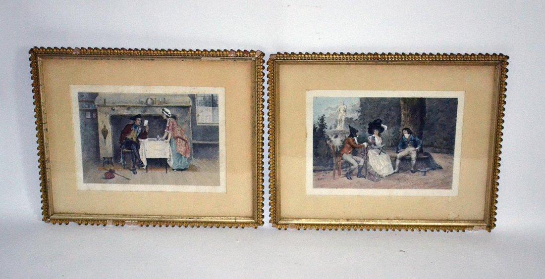 73: Pair of C. Klackner Engravings, 18th C. Scenes