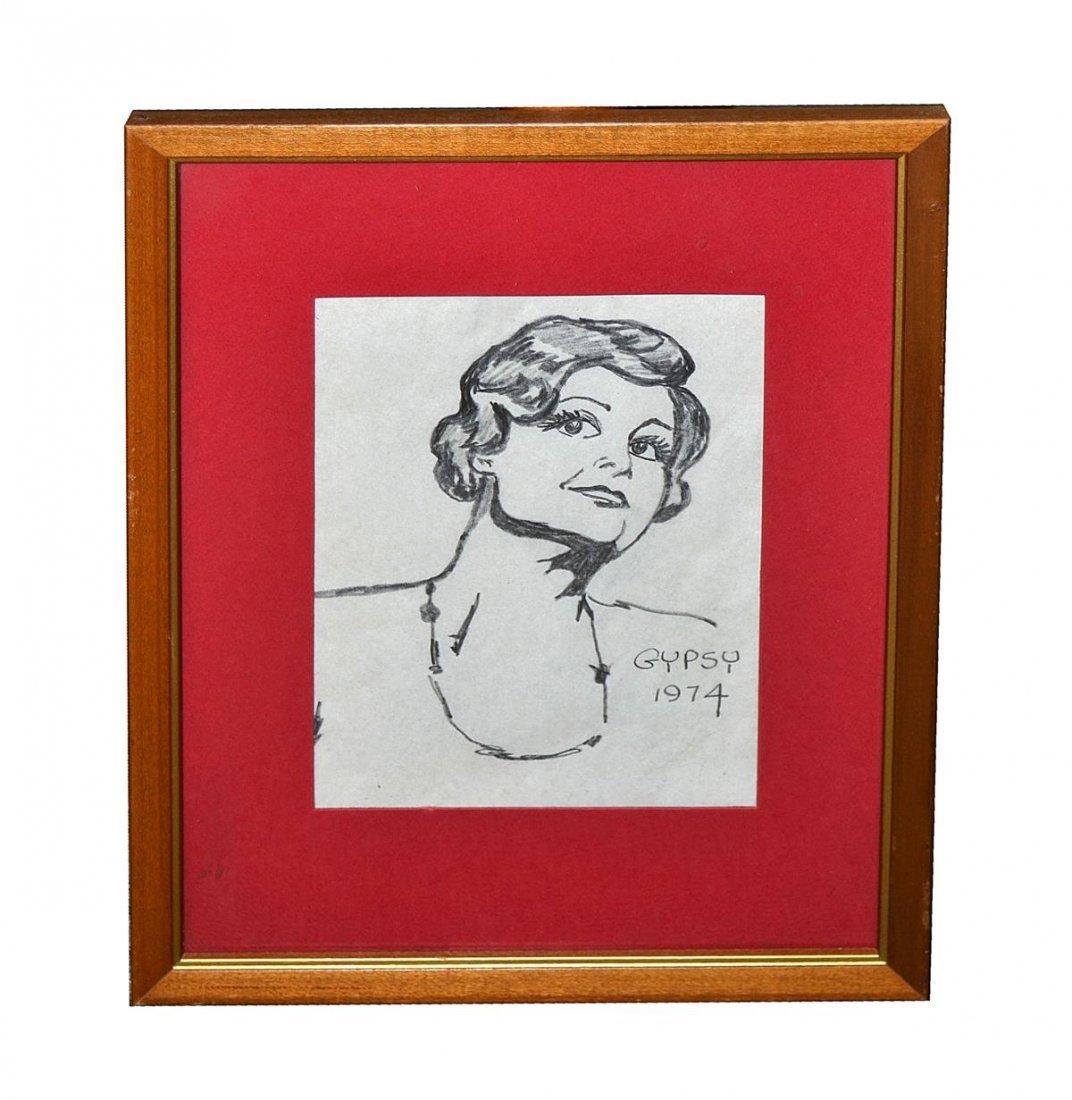 """496: """"Gypsy"""" - Pencil Portrait: Angela Lansbury"""