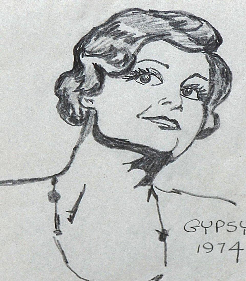 """496: """"Gypsy"""" - Pencil Portrait: Angela Lansbury - 2"""