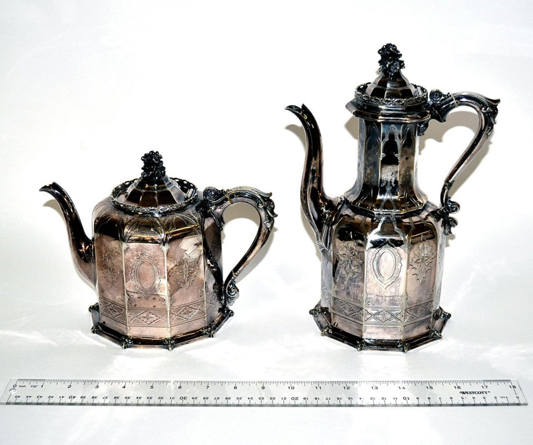 10: Two Silver Plate Coffeepots