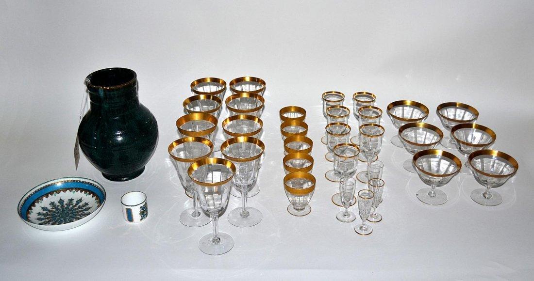 17: Gold Rim Stemware & Others [30+ Items]