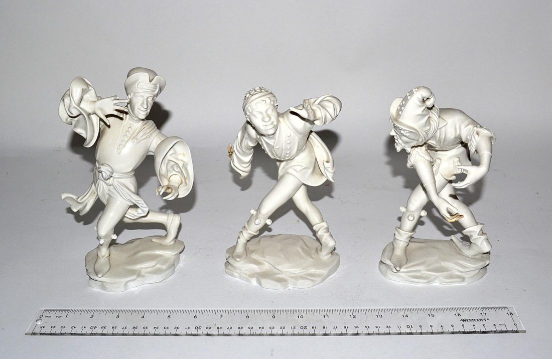 54: Three Theatre Figurines