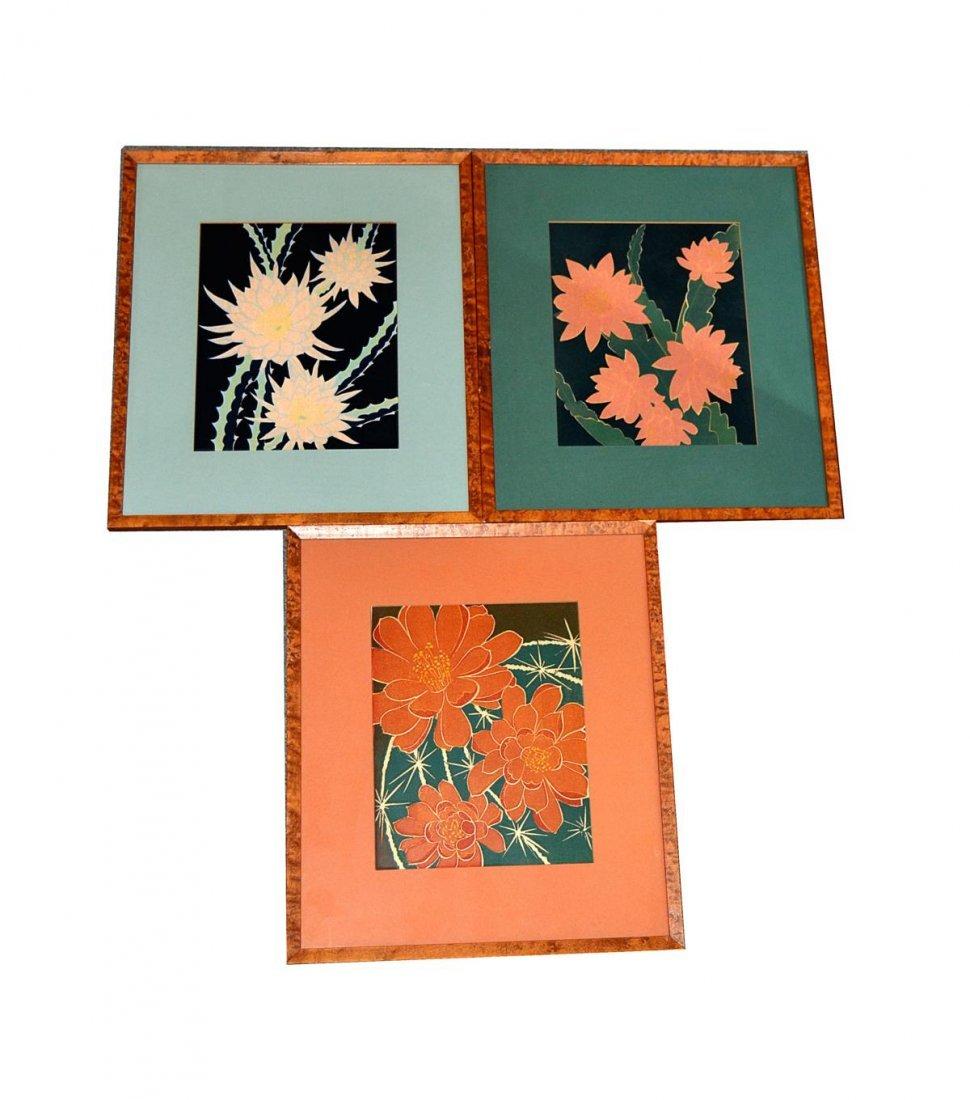 21: T.R. Ludwig - Three Framed Art Deco Prints