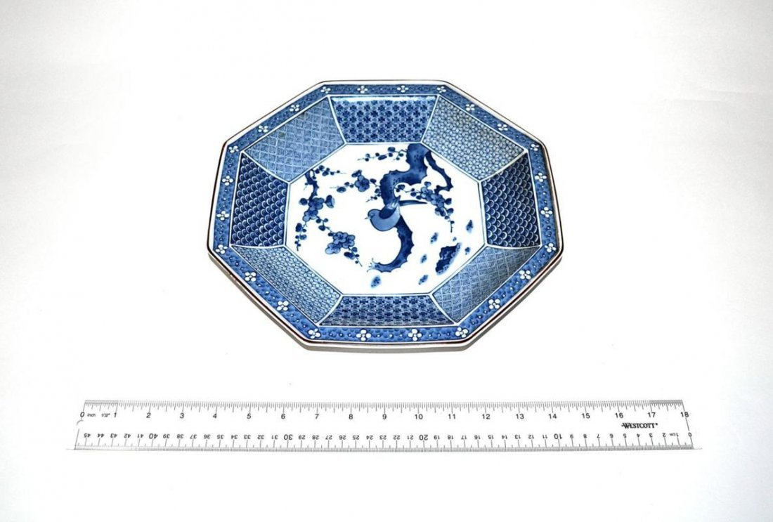 4: Chinese Blue & White Octagonal Charger
