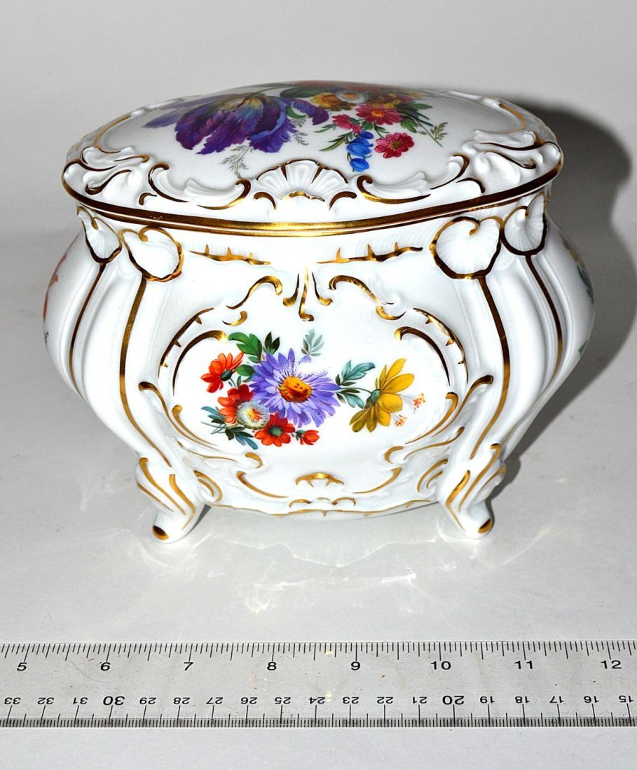 13R: Rosenthal Floral Covered Box