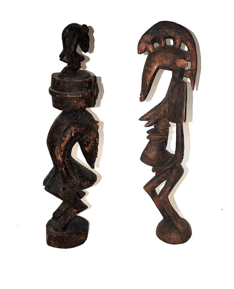 14R: Two Carved Wood African Sculptures