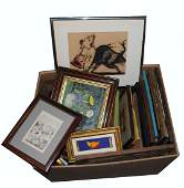 570 Box th C  20th C Framed Works on Paper