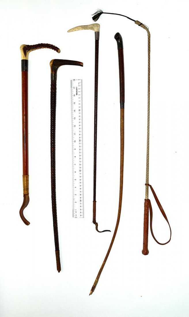 18: Group of Antique & Vintage Riding Crops