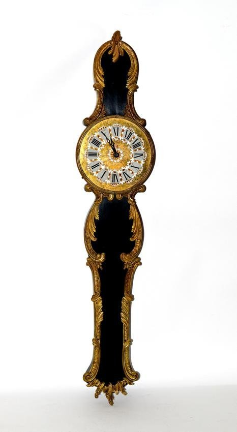 22: French Bronze & Wood Banjo Clock