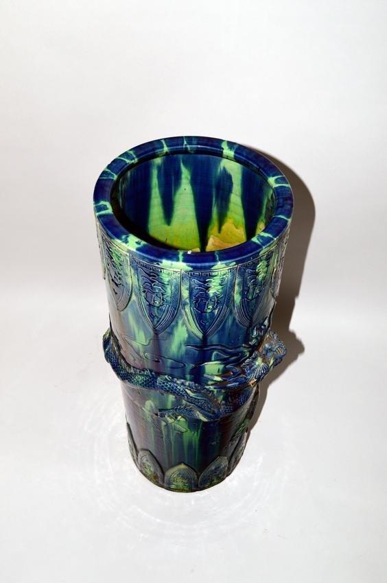 42: Ceramic Asian Style Dragon Umbrella Stand - 2