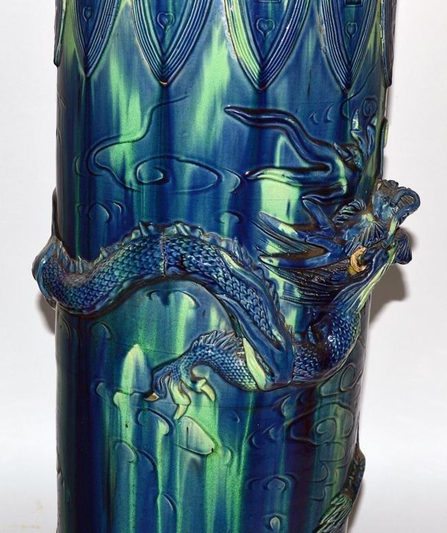 42: Ceramic Asian Style Dragon Umbrella Stand - 3