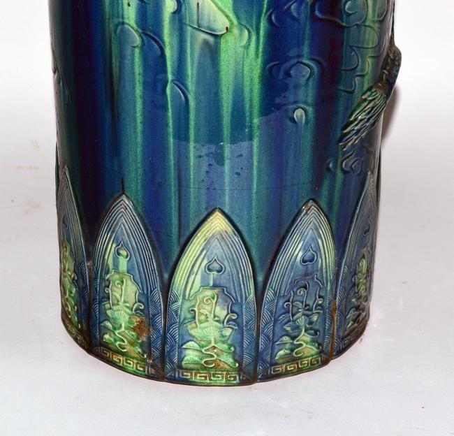 42: Ceramic Asian Style Dragon Umbrella Stand - 4