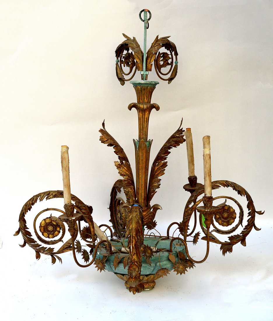 8: Tole Wood and Metal Fixture