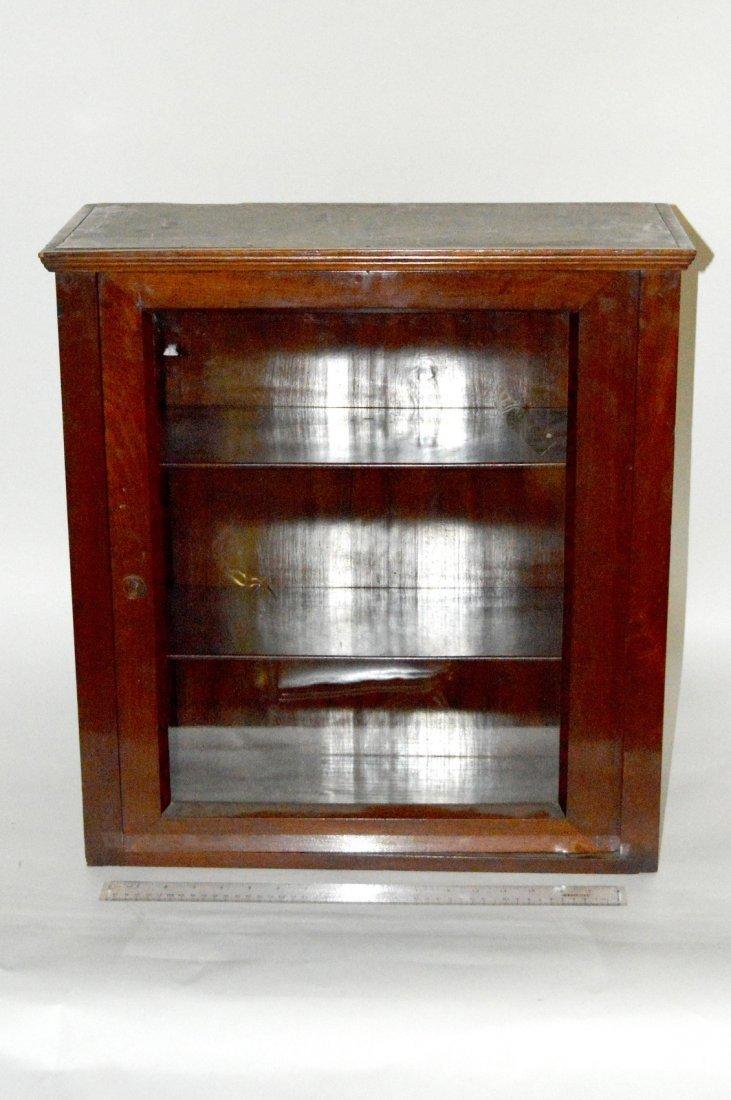 15: Antique Mahogany Wall Cabinet