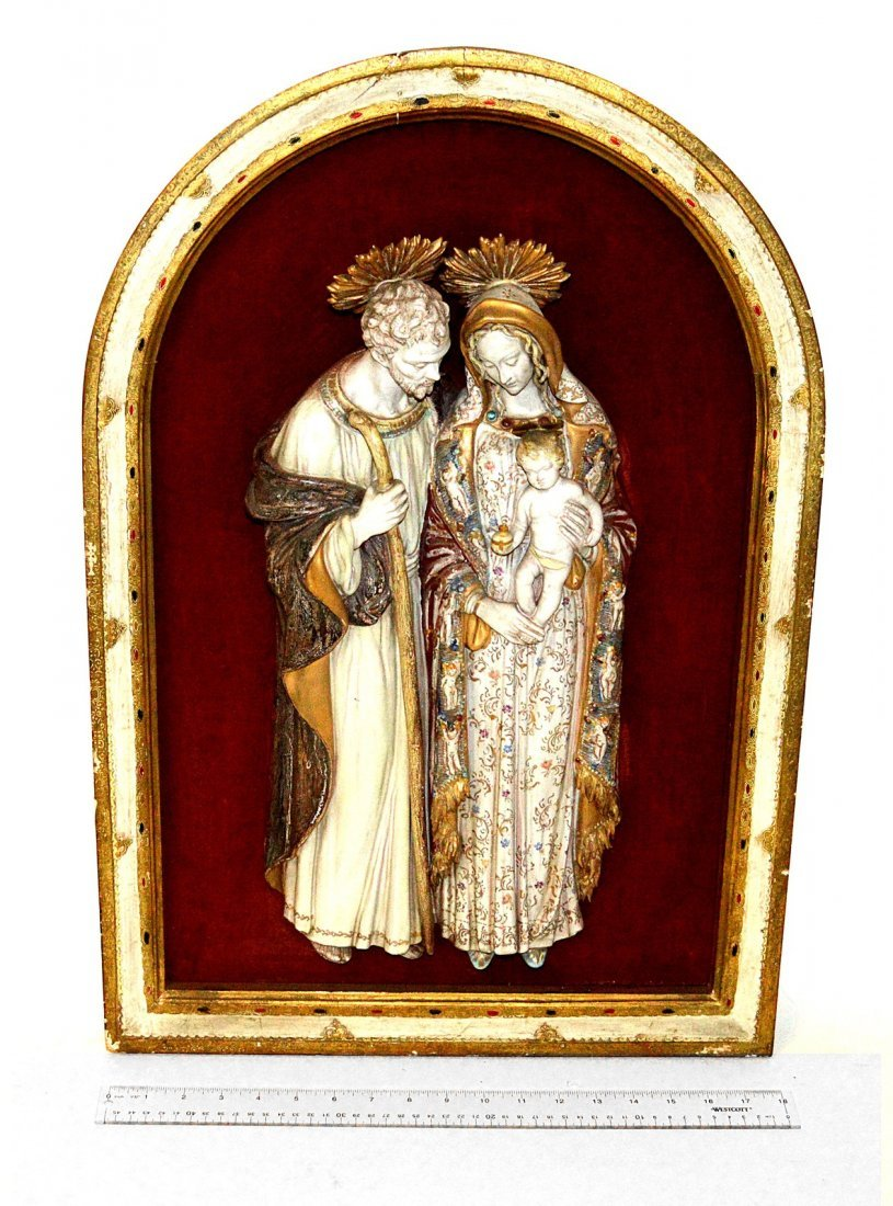 20: Glazed Porcelain Figural Group - Holy Family