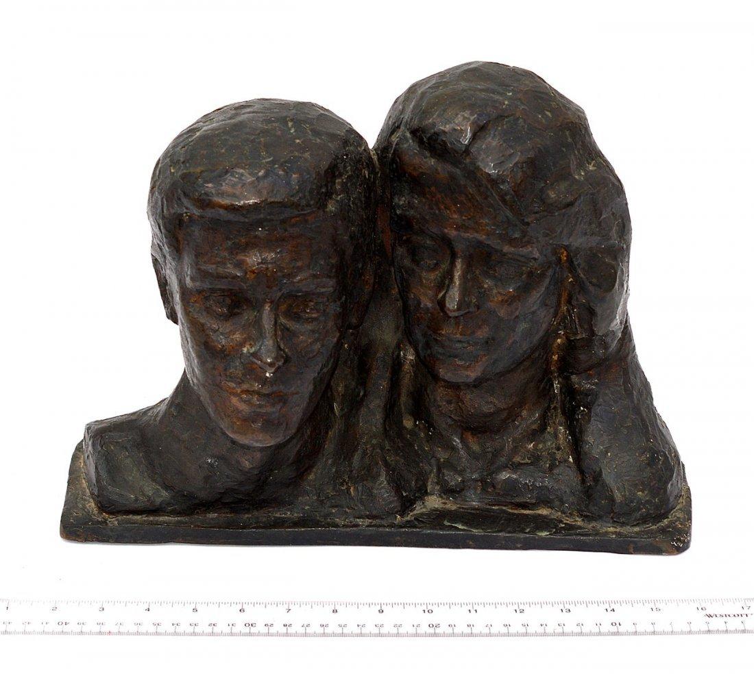 2: Bronze Double Bust Man & Woman
