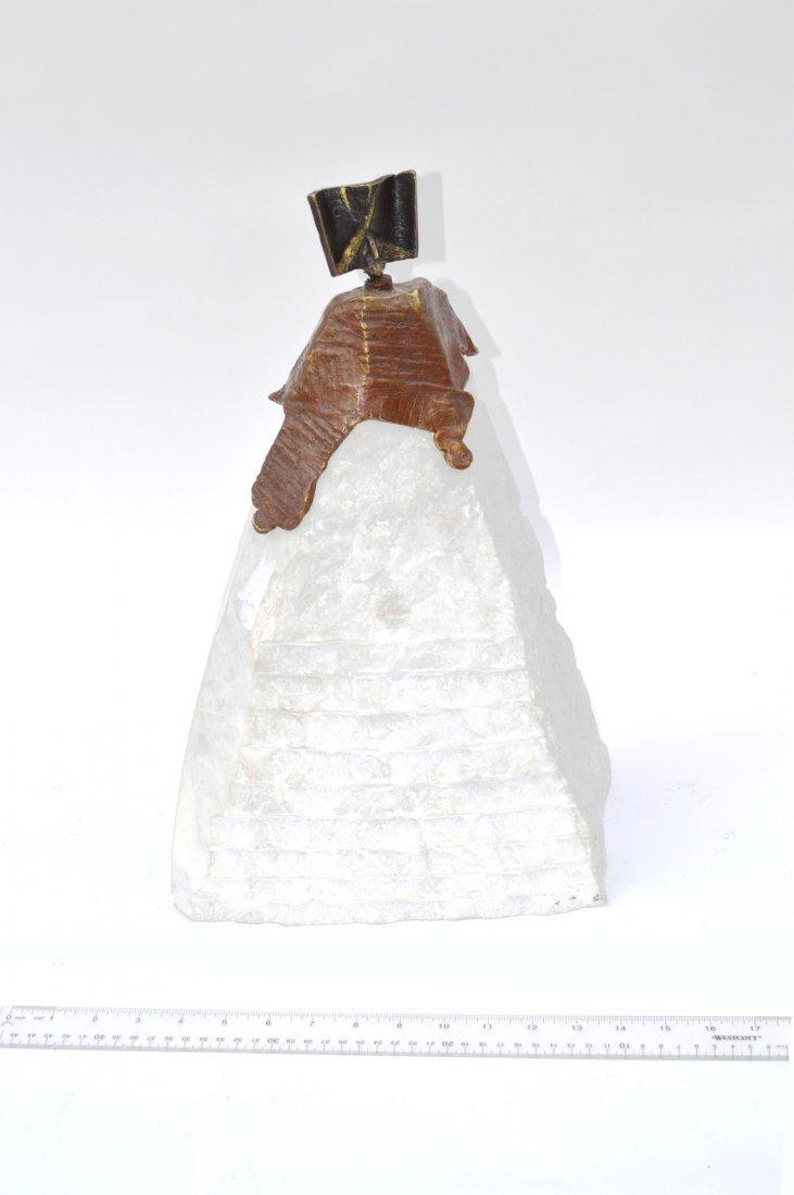 3: After Oscar Zamarripa Bronze & Marble Sculpture