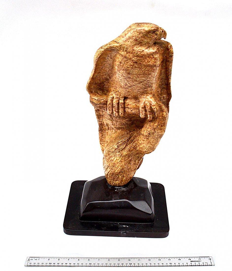 4: G. Karty Carved Marble Sculpture - Eagle