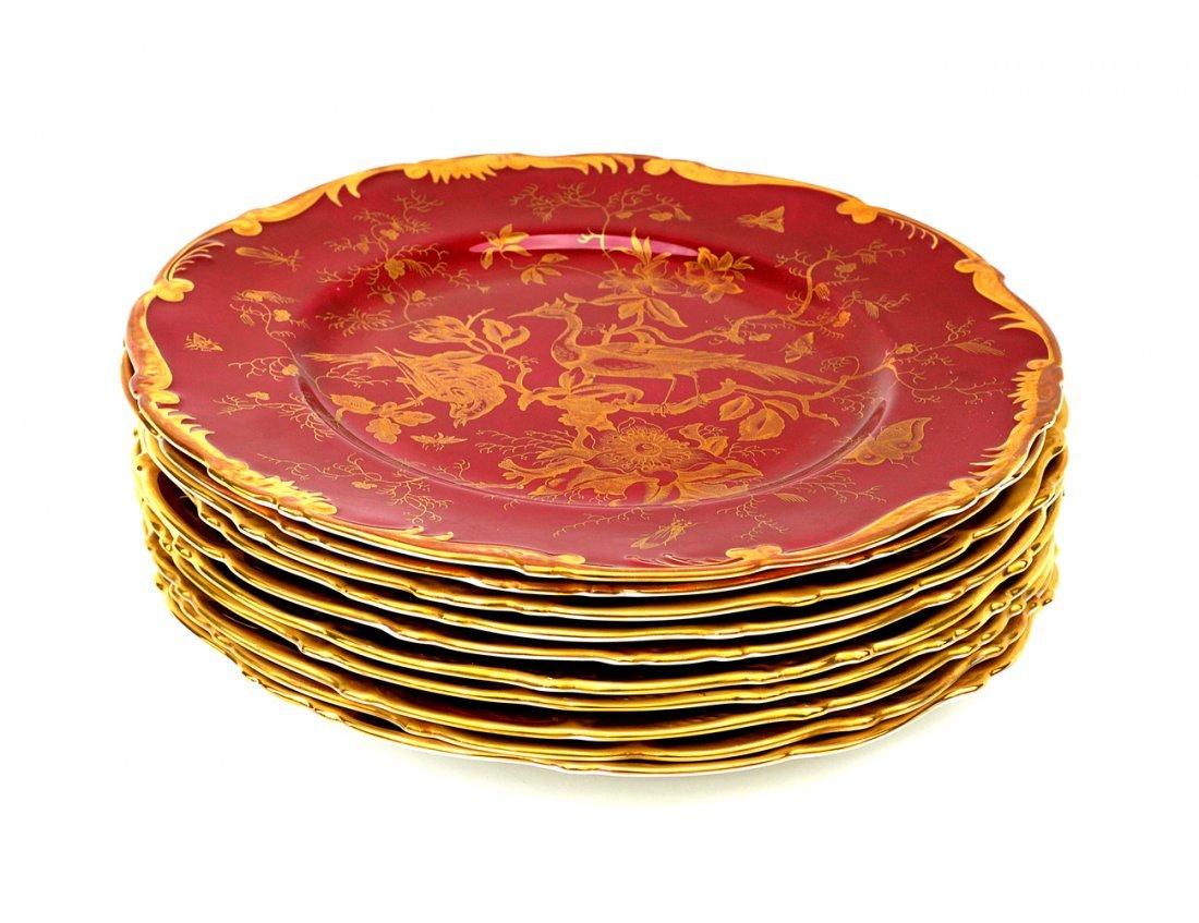 8: 11 Coalport Porcelain Plates