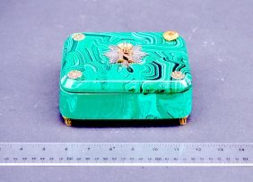 Faux Malachite Czarist Box