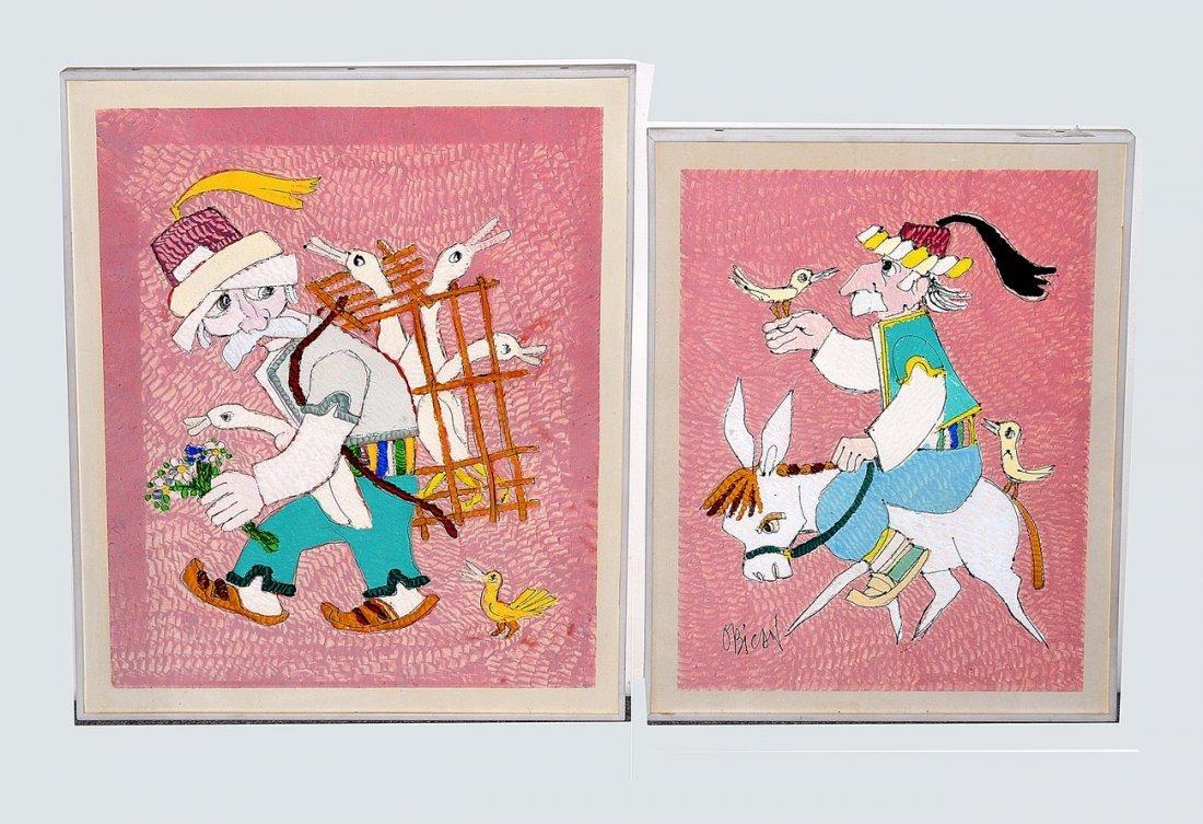 11: Obicon 2 Ink & Gouaches Folk Caricature