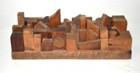 24: 20th Century Abstract Wooden Sculpture