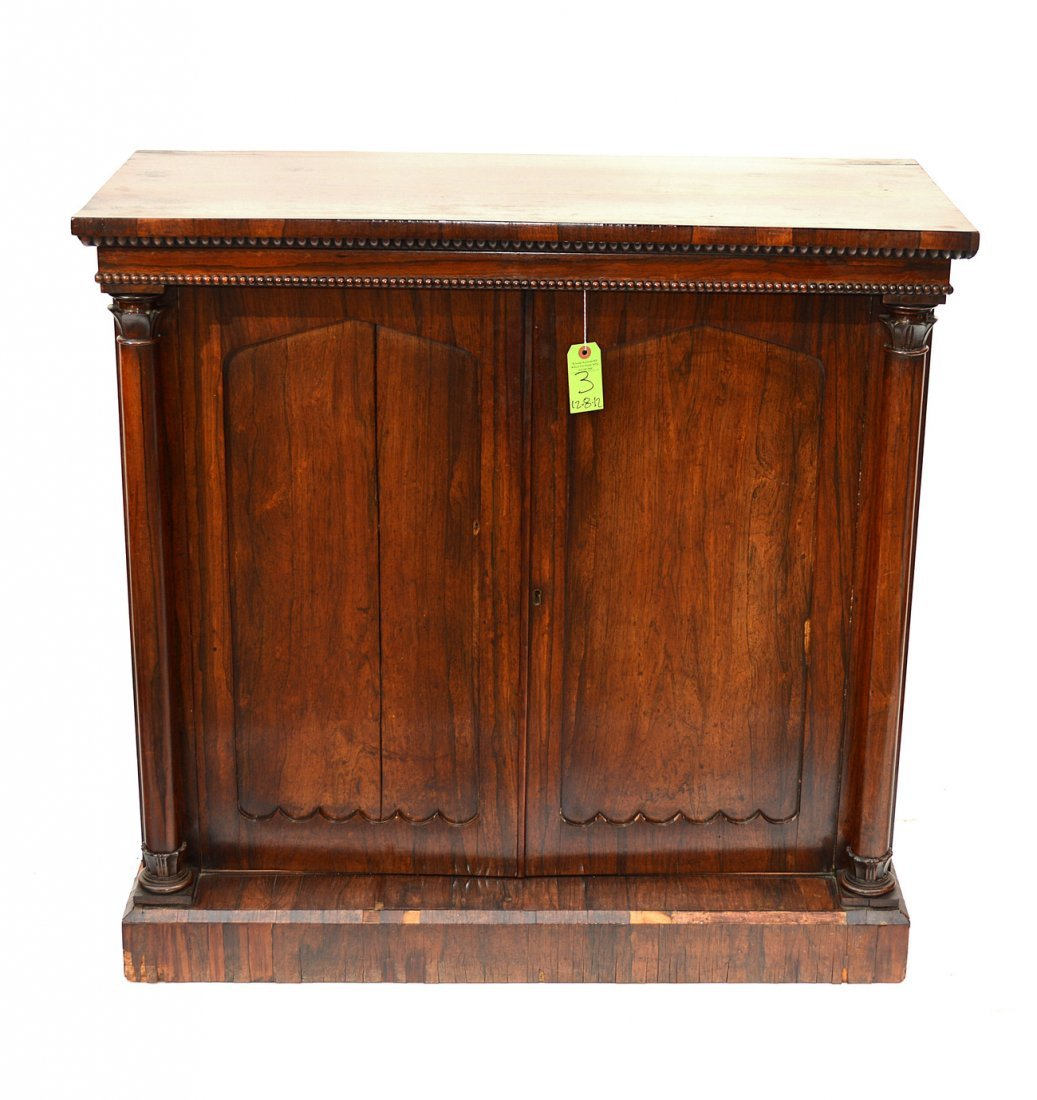 3: Antique Rosewood English Regency Cabinet