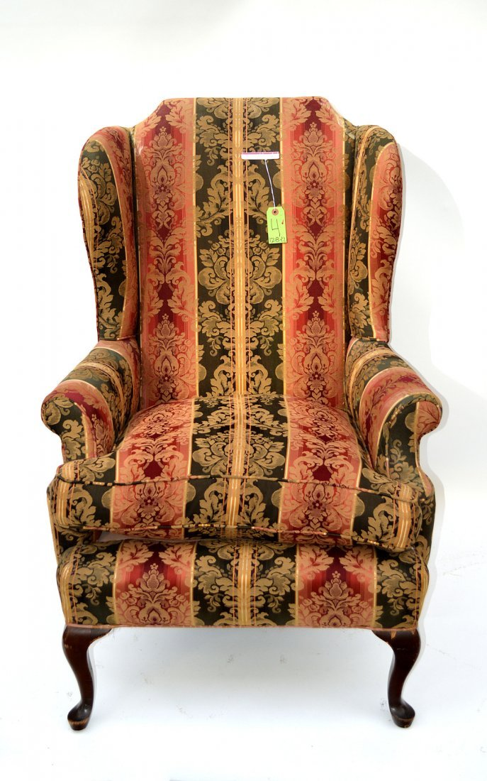 4: Queen Anne Style Wing Chair