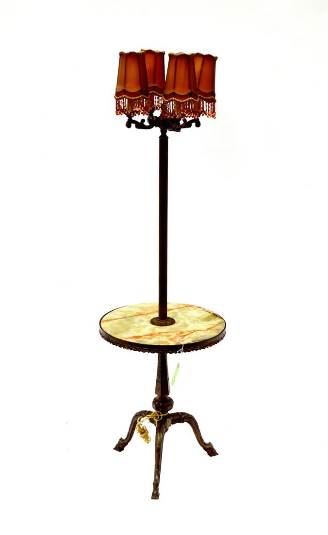 5: Hardstone Side Table Floor Lamp
