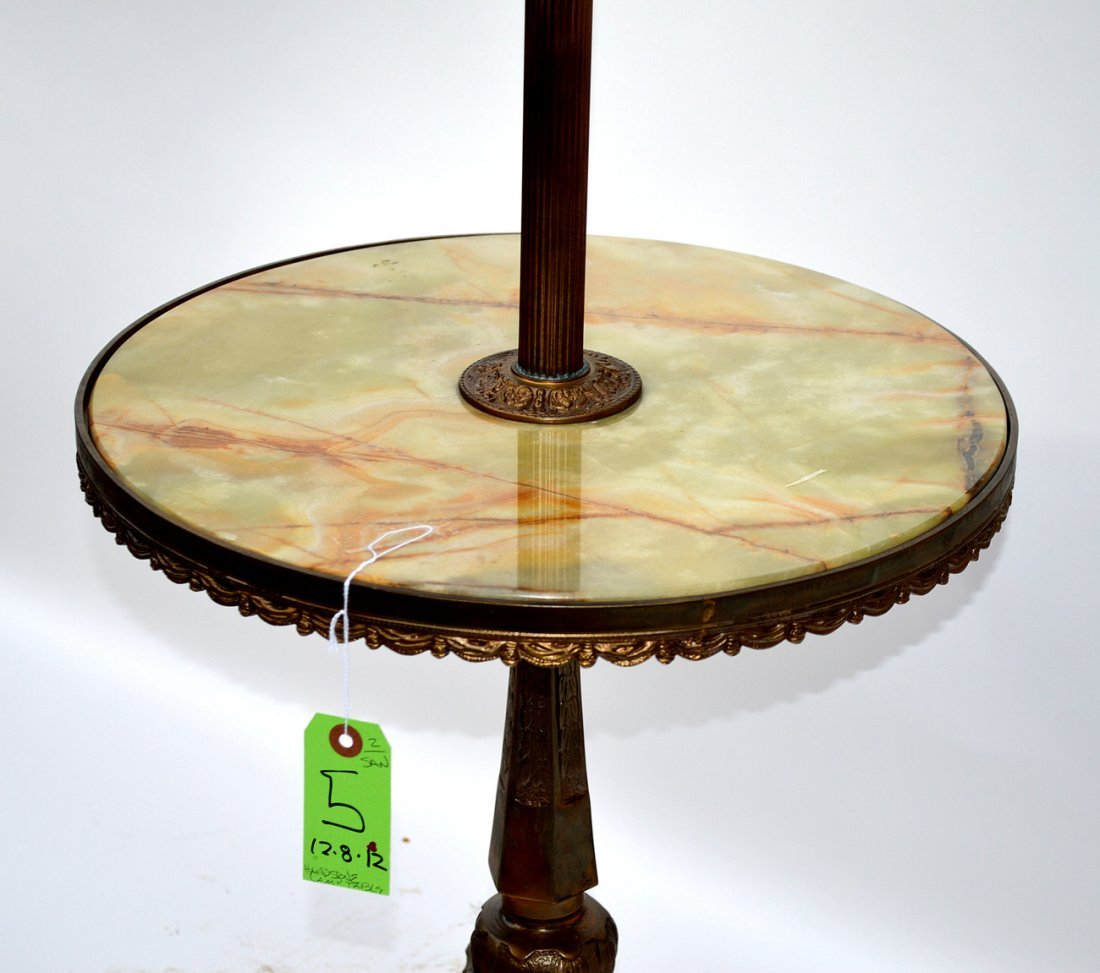 5: Hardstone Side Table Floor Lamp - 5