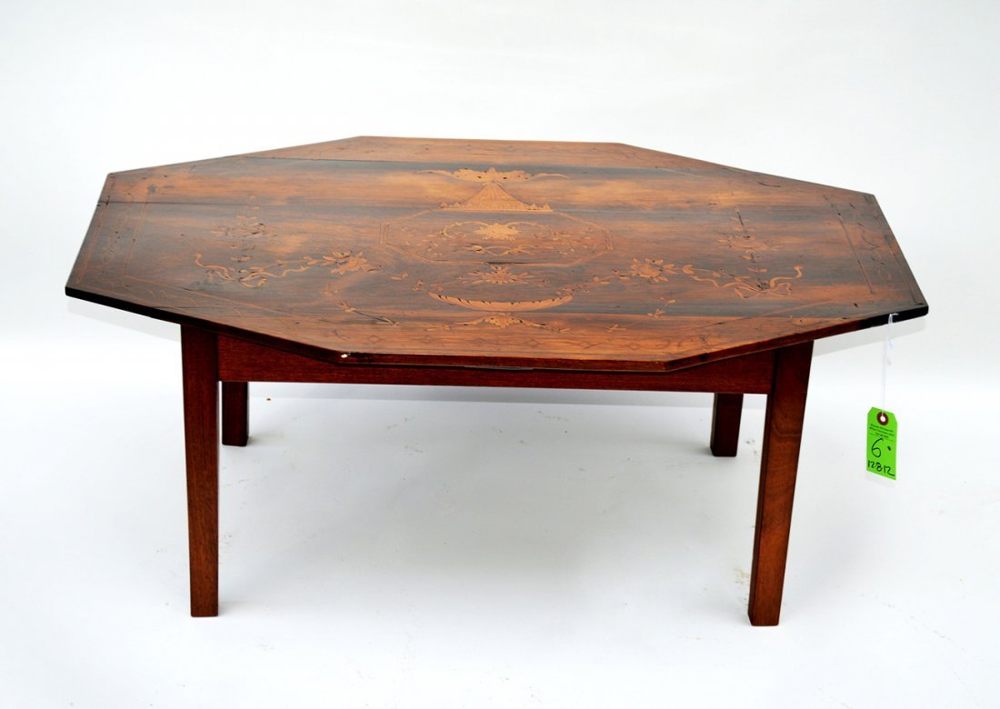 6: Octagonal Inlaid Coffee Table