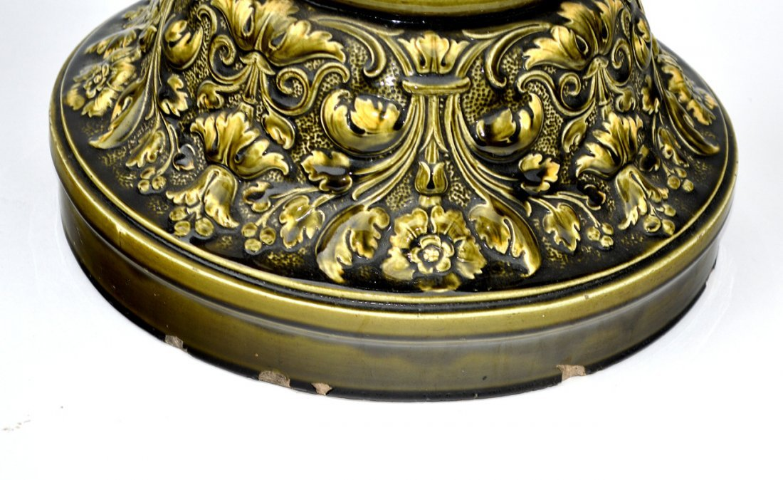 10: Renaissance Revival-Style Ceramic Stand - 4