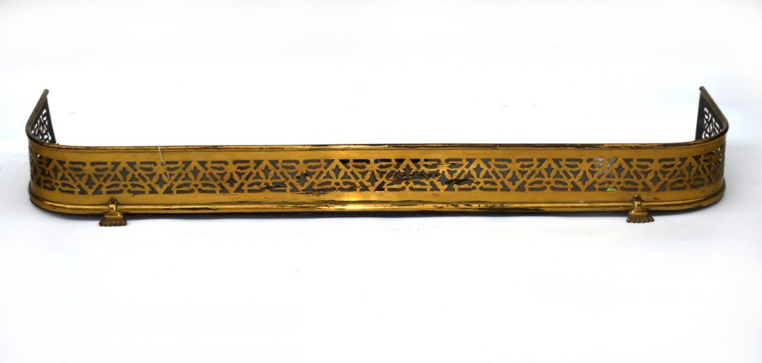 22: Ornate Brass Fire Fender