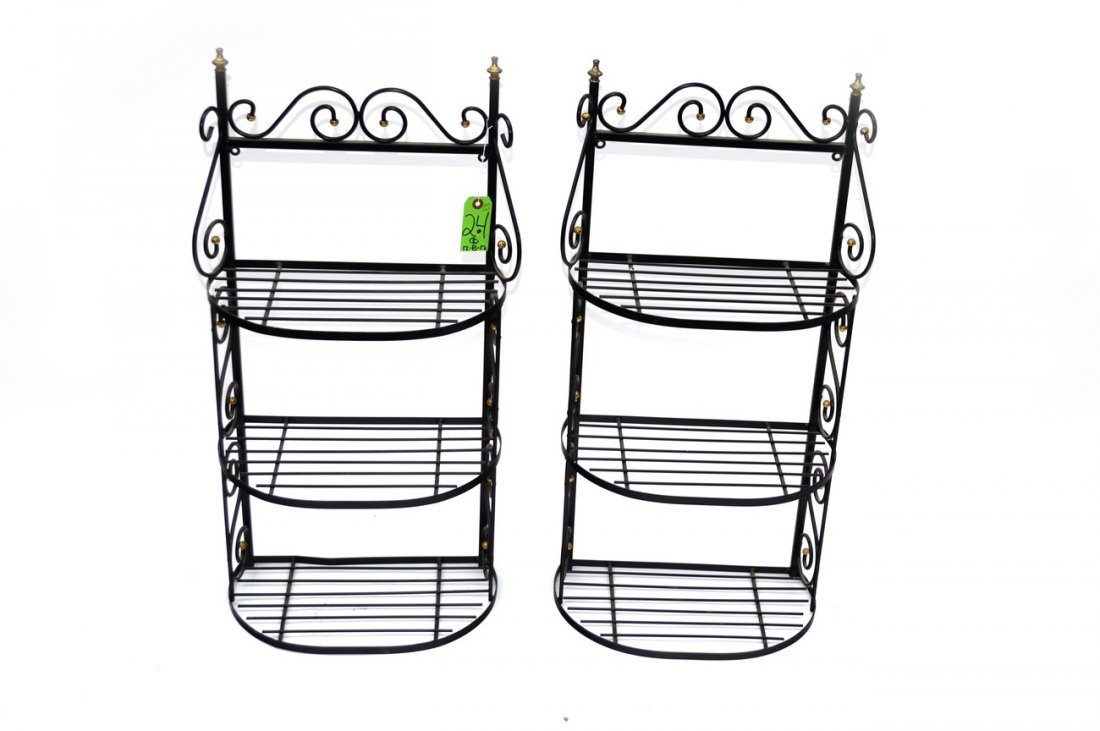 24: Pair of Wall Mount Baker's Racks