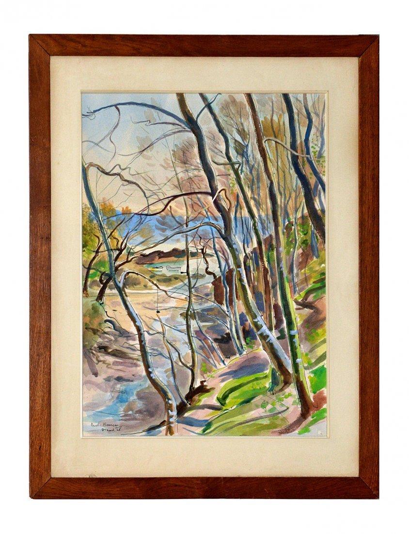359: Andre Planson [1898- 1981] - Watercolor