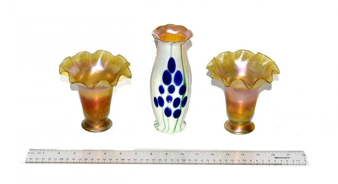 9: Three Art Glass Shades