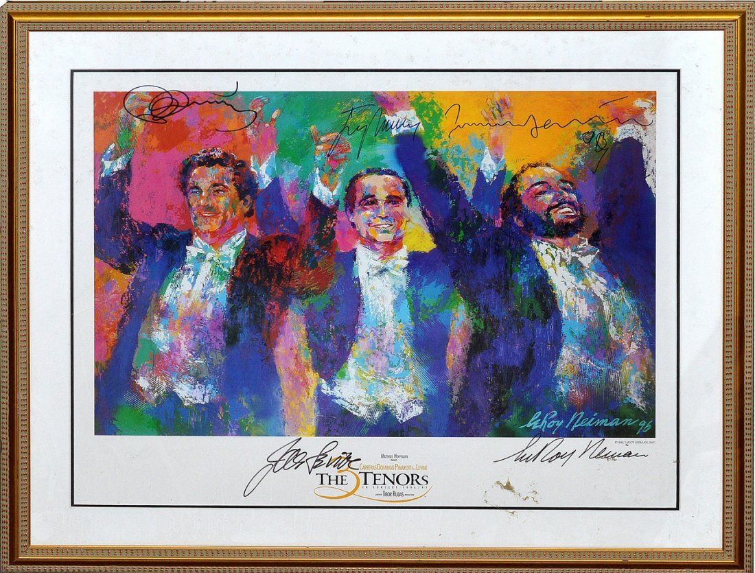 "20: Leroy Neiman Poster, ""The Tenors"""
