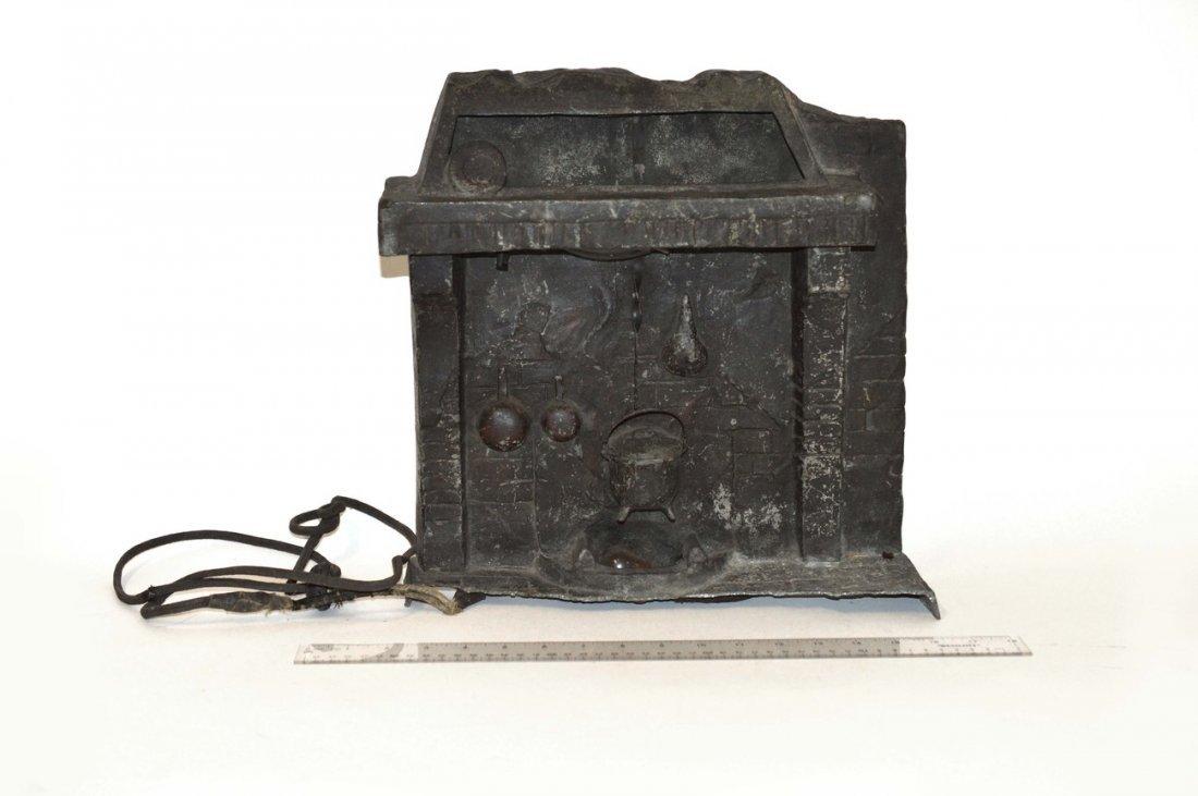 iron fireplace lamp