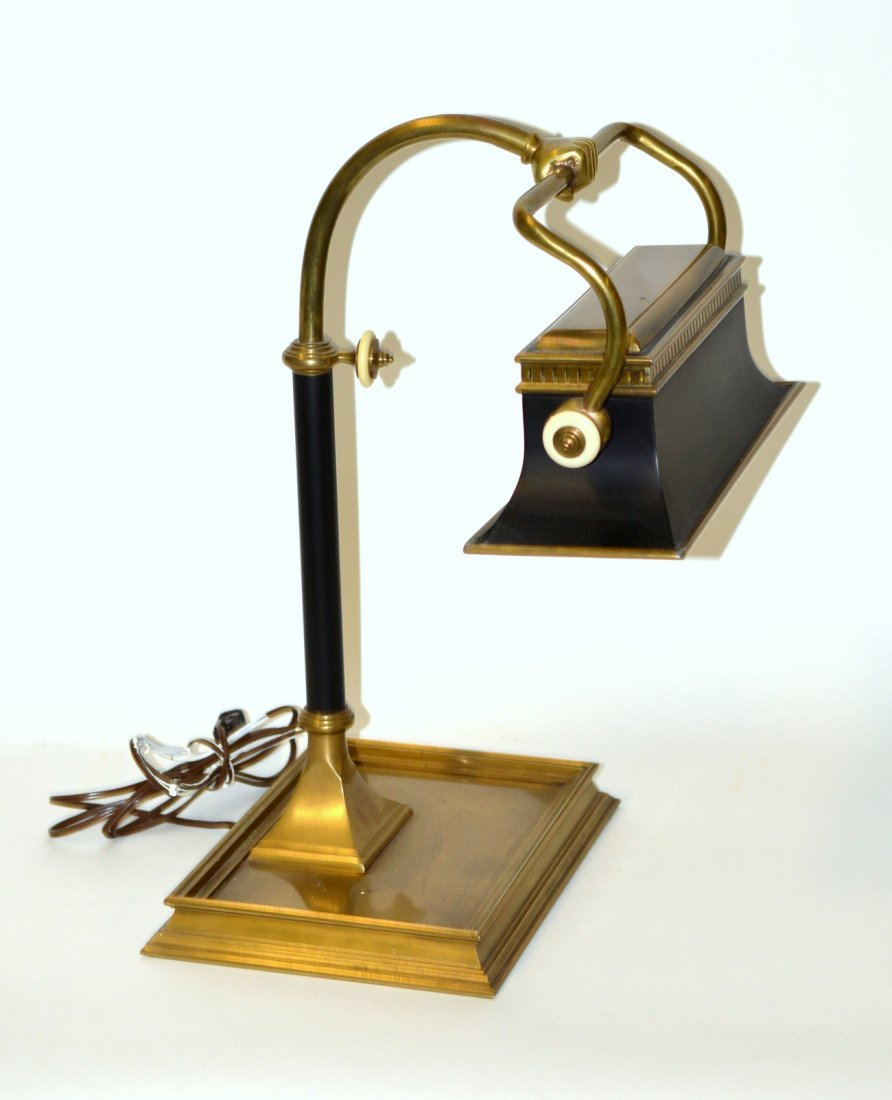 4: Brass & Tole Banker's Lamp