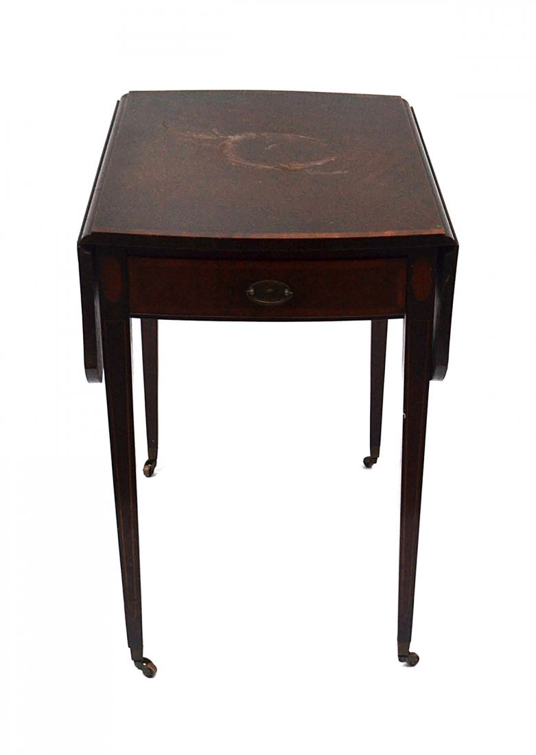 10: Antique Sheraton-Style Drop Leaf Table