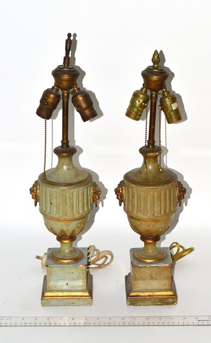 18: Pair of Georgian-Style Composition Table Lamps